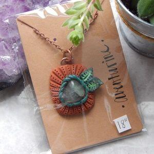 Handmade aventurine necklace